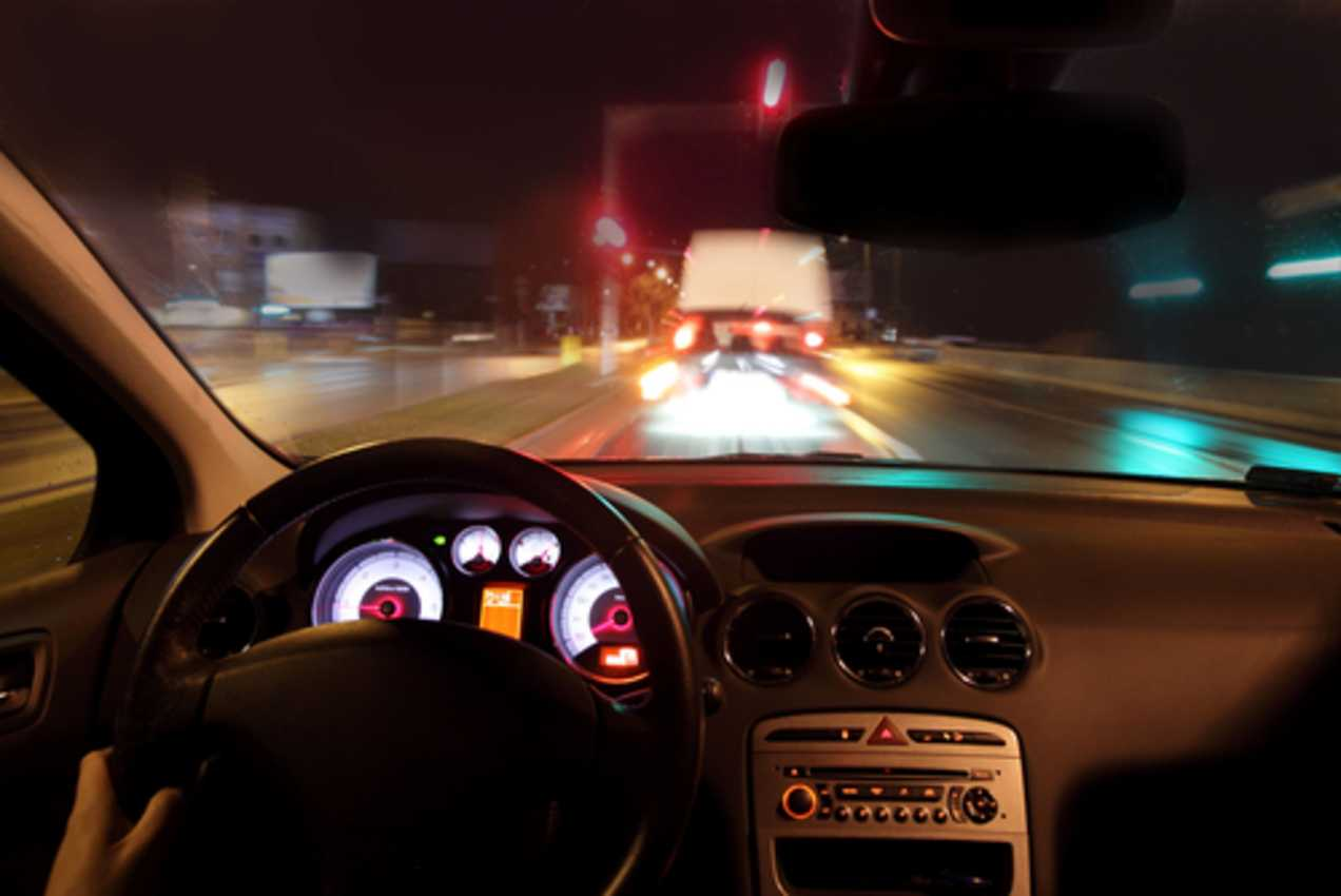 Night Driving with Contact Lenses