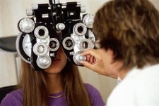 "Routine eye test saves woman""s sight"